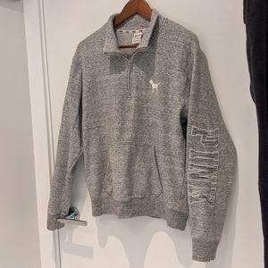 Pink Quarter Zip Sweatshirt - Sz M